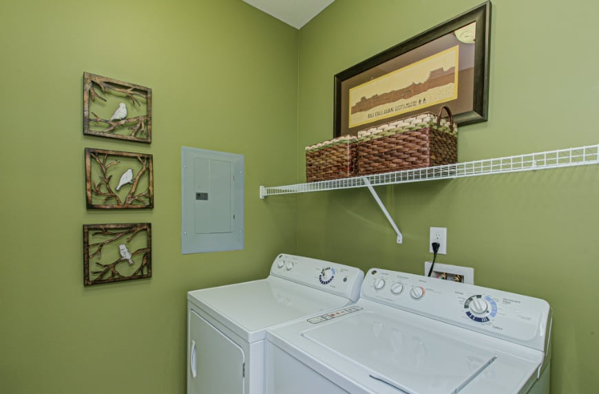 Laundry room in a Indianapolis townhome.