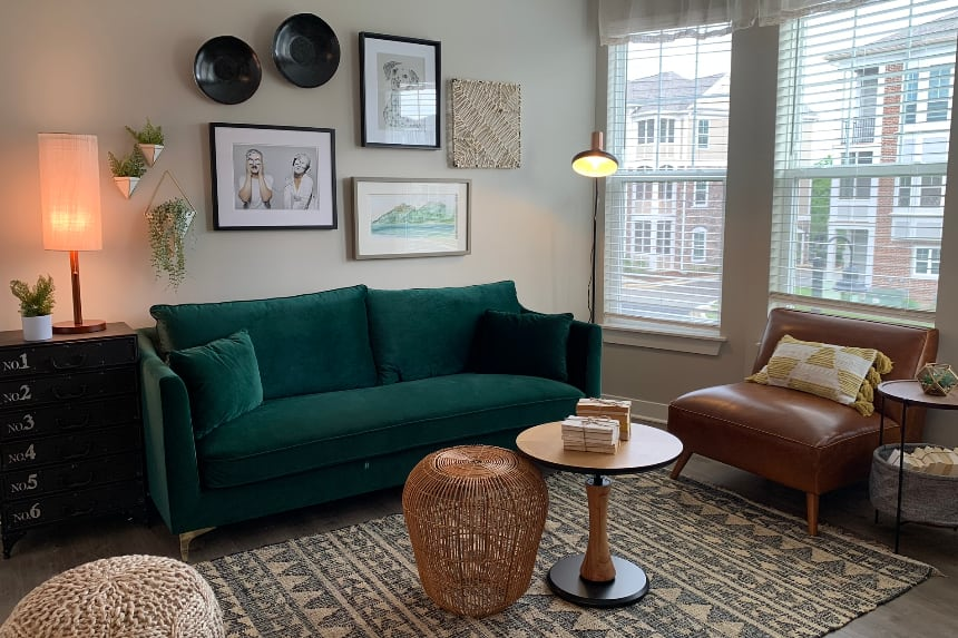 Indianapolis apartment living room